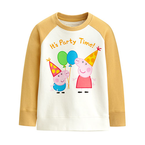 Peppa Pig毛圈配色圓領衫-04-童