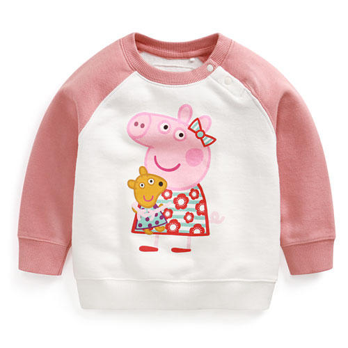 Peppa Pig毛圈配色圓領衫-01-Toddler
