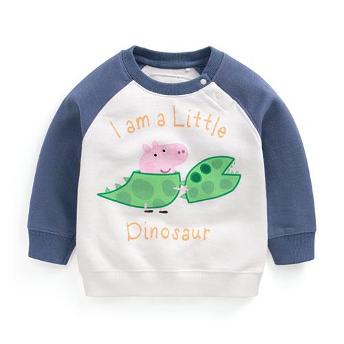 Peppa Pig毛圈配色圓領衫-03-Toddler
