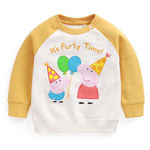 Peppa Pig毛圈配色圓領衫-04-Toddler