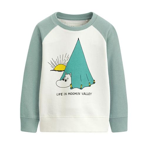 Moomin毛圈配色圓領衫-01-童