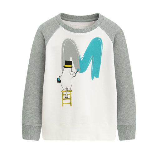Moomin毛圈配色圓領衫-02-童