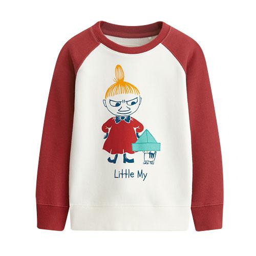 Moomin毛圈配色圓領衫-03-童