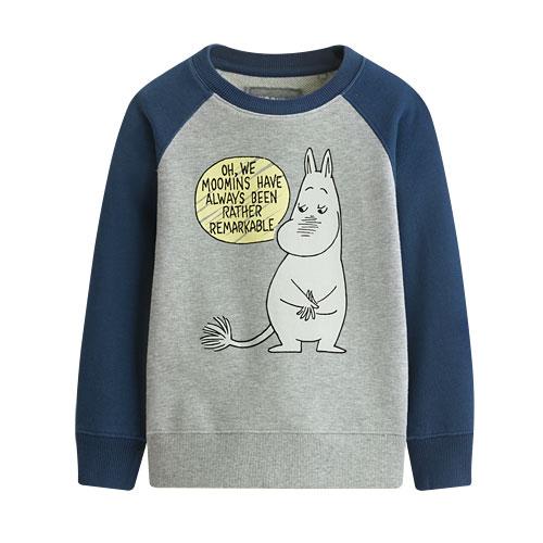 Moomin毛圈配色圓領衫-04-童