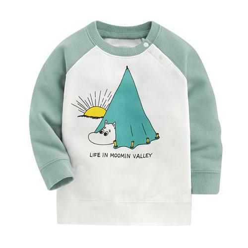 Moomin毛圈配色圓領衫-01-Baby