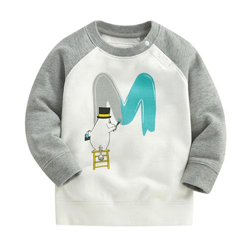 Moomin毛圈配色圓領衫-02-Baby