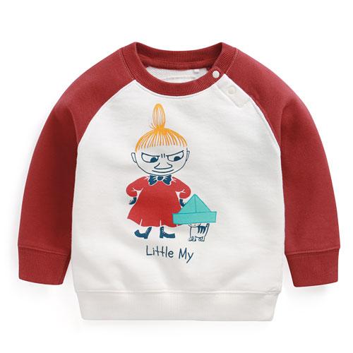 Moomin毛圈配色圓領衫-03-Baby