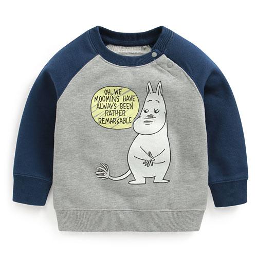 Moomin毛圈配色圓領衫-04-Baby