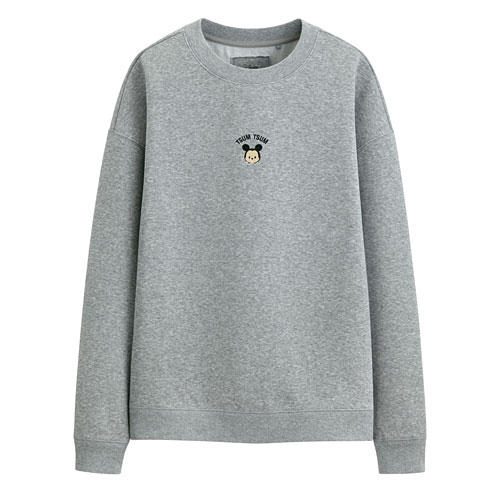 Tsum Tsum系列刷毛寬鬆版圓領衫-01-女