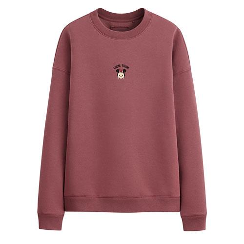 Tsum Tsum系列刷毛寬鬆版圓領衫-02-女