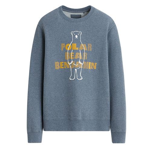 Polar Bear Benjamin毛圈圓領衫-女