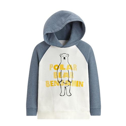 Polar Bear Benjamin毛圈連帽衫-01-童