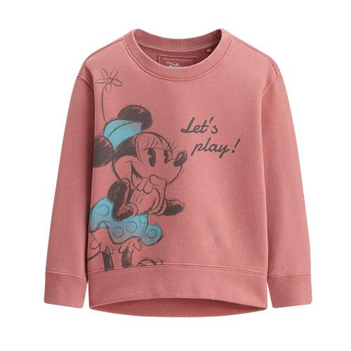 迪士尼系列落肩毛圈圓領衫-02-童