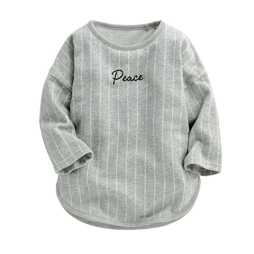 小毛圈印花長版衫-Baby
