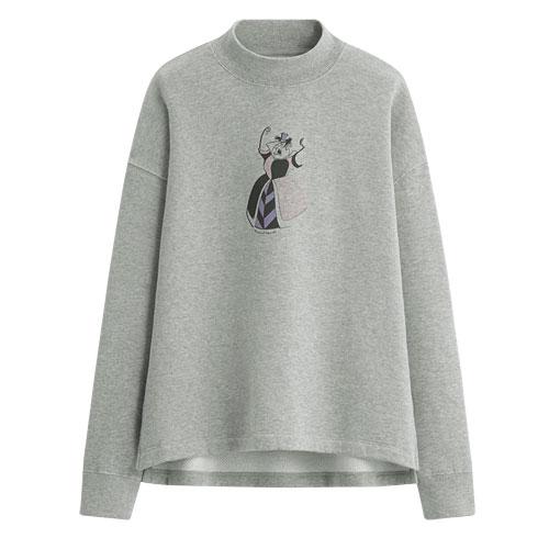 迪士尼系列中高領刷毛圓領衫-02-女