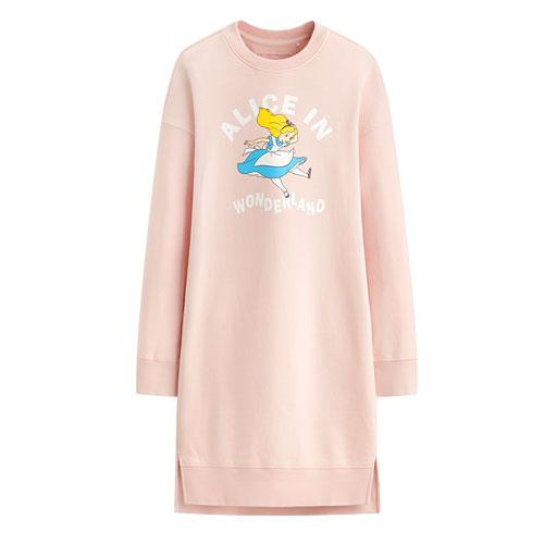 迪士尼系列毛圈長版衫-01-女
