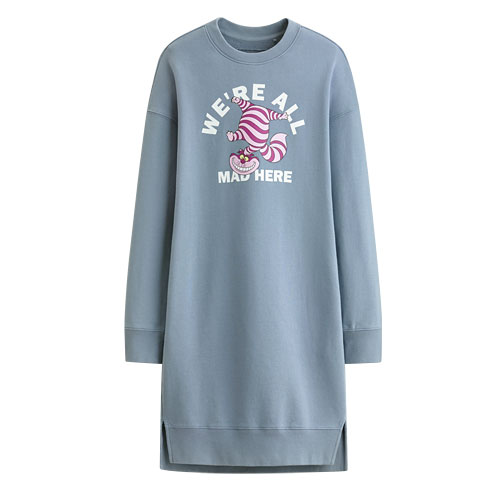 迪士尼系列毛圈長版衫-02-女