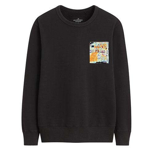 Jean-Michel Basquiat毛圈圓領衫-03-男