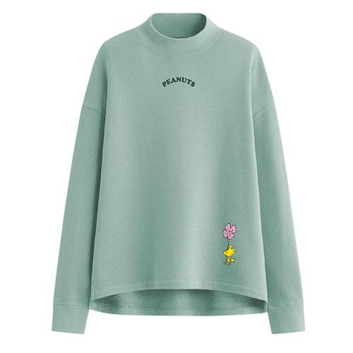 史努比中高領刷毛圓領衫-03-女