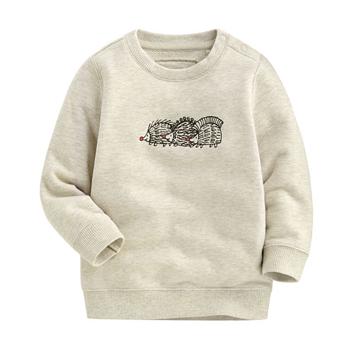 Lisa Larson毛圈圓領衫-01-Baby