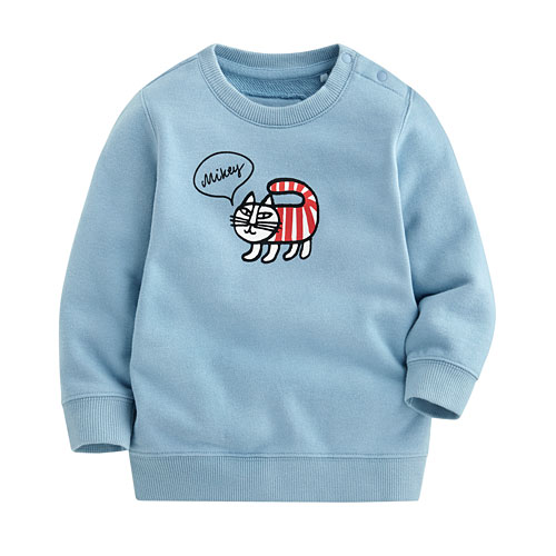 Lisa Larson毛圈圓領衫-02-Baby