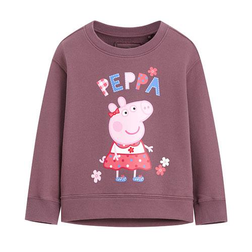 Peppa Pig落肩毛圈圓領衫-02-童