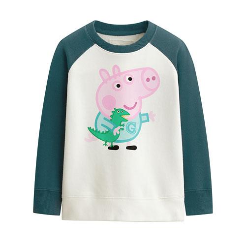 Peppa Pig毛圈配色圓領衫-02-童