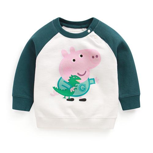 Peppa Pig毛圈配色圓領衫-02-Toddler