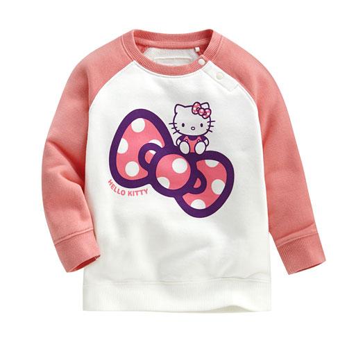 Hello Kitty毛圈配色圓領衫-02-Baby