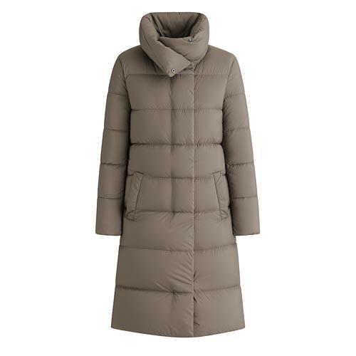 輕型保暖圍巾領羽絨大衣-女