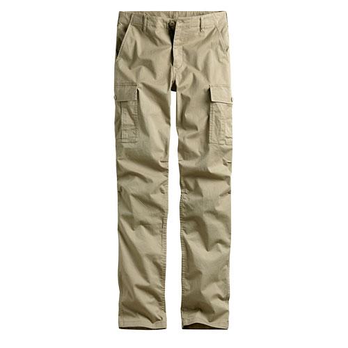 休閒彈性口袋直筒褲-男