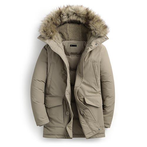 極暖長版羽絨外套-男