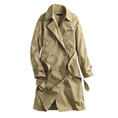 長版雙排釦風衣外套-女