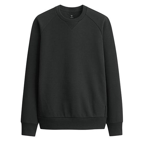 吸排彈性加厚圓領長袖T恤-男