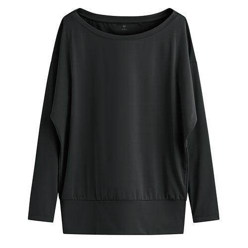 吸排寬版長袖T恤-女