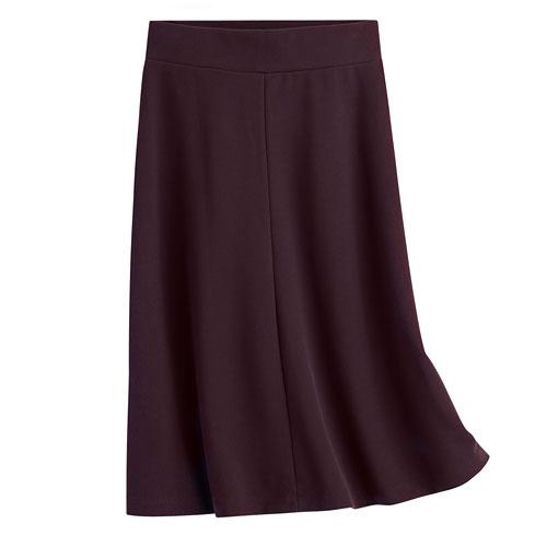 厚織羅紋中長裙-女