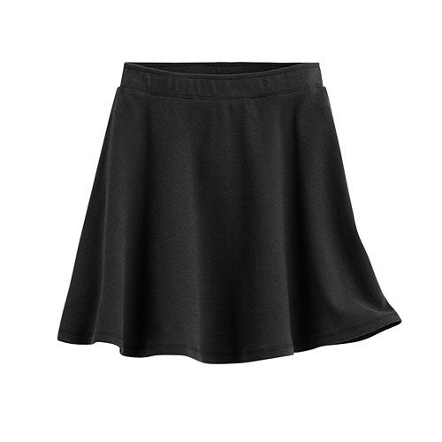 厚羅紋短裙-女