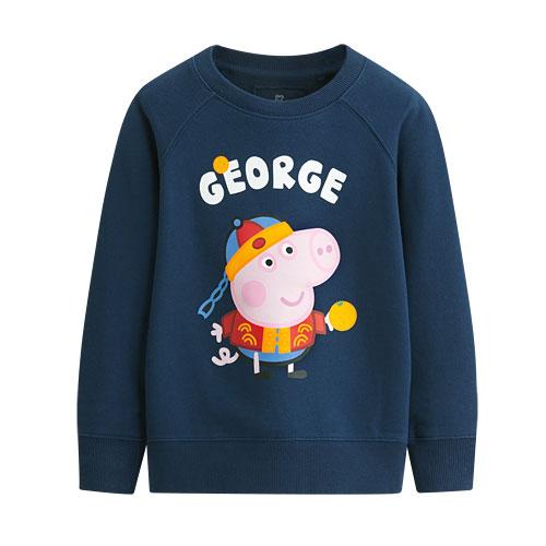 Peppa Pig毛圈圓領衫-03-童
