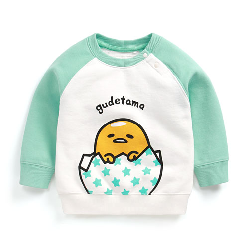 蛋黃哥毛圈配色圓領衫-02-Baby