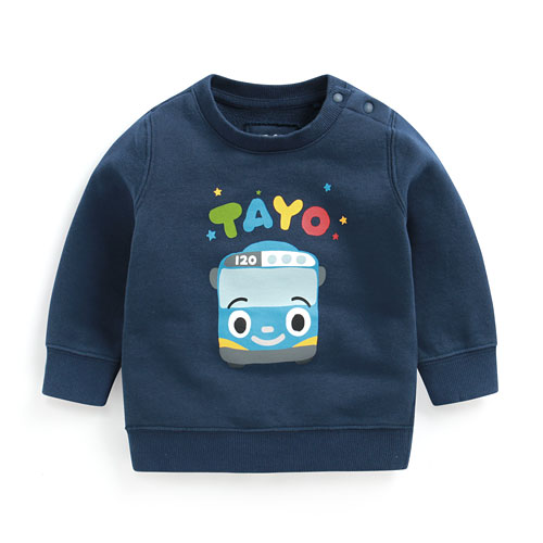 TAYO The Little Bus毛圈圓領衫-01-Baby