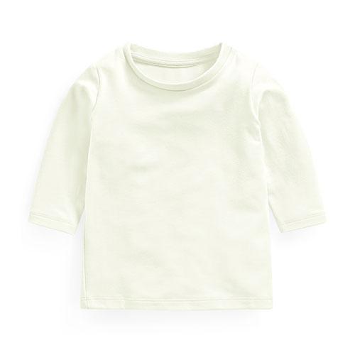 保暖刷毛圓領長袖T恤-Baby