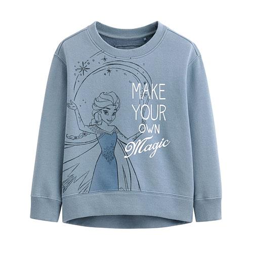 迪士尼系列落肩毛圈圓領衫-05-童