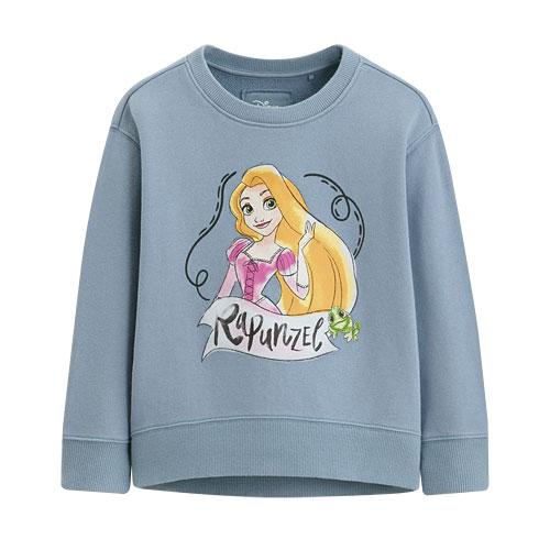 迪士尼系列落肩毛圈圓領衫-07-童