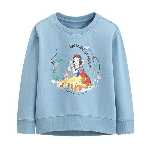 迪士尼系列落肩毛圈圓領衫-09-童