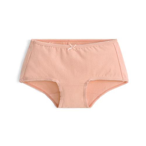 棉質低腰平口內褲-女