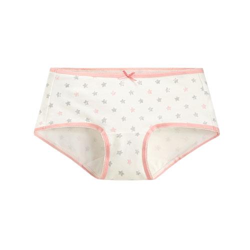 棉質印花低腰平口內褲-女