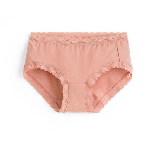 莫代爾蕾絲中腰內褲-女