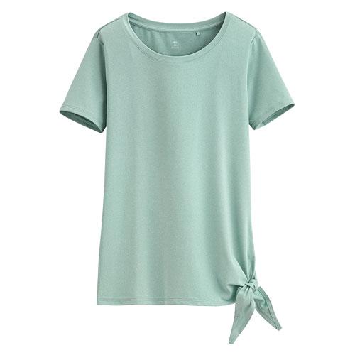 吸排綁帶短袖T恤-女