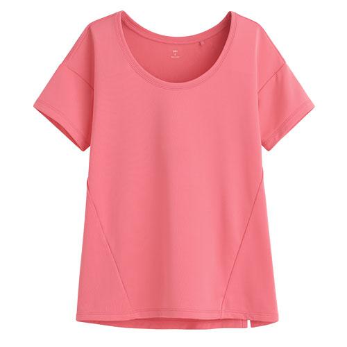吸排寬版短袖T恤-女