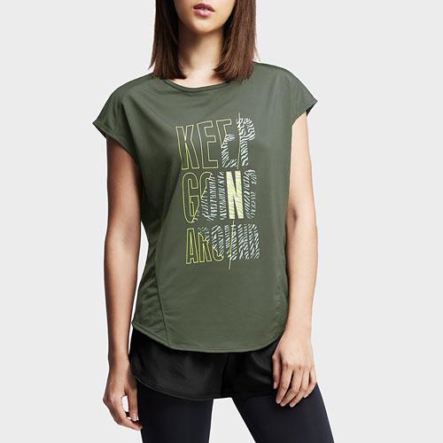 吸排文字寬版T恤-女